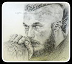 Portrait de Ragnar Lothbrok de la série Vikings, C$225.00