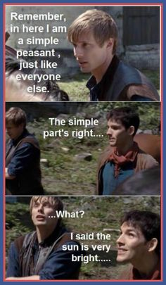 The goofy humor in Merlin <3