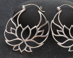 Aretes de plata pendientes tribales pequeños plata por Zephyr9