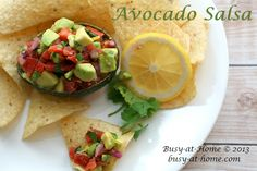 Avocado Salsa Recipe - fresh, healthy, and DELISH!  So, simple you'll make it every day!  Click over and grab the recipe!