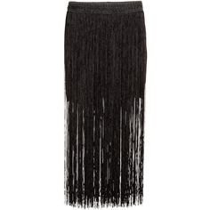 H&M Fringed skirt ($61) ❤ liked on Polyvore featuring skirts