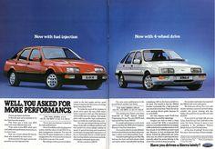 ford sierra brochure - 1985