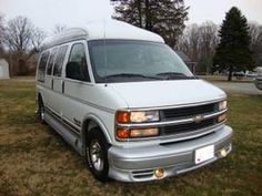 We have such a large selection of quality automotive conversion vans made with your comfort and convenience in mind. This is your home for custom used conversion vans. Chevy Conversion Van, Chevrolet Van, Chevy Van, Gmc Vans, Chevy Express, Used Vans, Van For Sale, Bus Camper, Cars