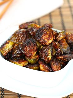 Crispy Asian Glazed Brussels Sprouts 4 Sons 'R' Us. Crispy Asian Brussels Sprouts The BakerMama. Asian Roasted Brussels Sprouts With Crispy Fried Shiitake . Sprout Recipes, Vegetable Recipes, Vegetarian Recipes, Cooking Recipes, Healthy Recipes, Side Dish Recipes, Asian Recipes, Recipes Dinner, Best Brussel Sprout Recipe