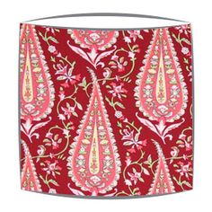 Amy Butler Paisley Fabric Lampshade in wine