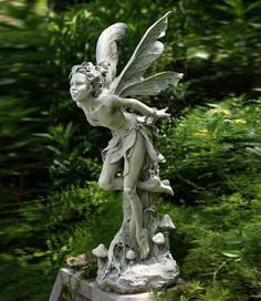 woodland fairy sculpture, garden fairy sculpture, resin fairy sculptures, wonderful fairy statues, fairy garden decor
