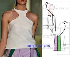 Passo a passo transformação do molde de blusa de camurça. Para fazer este modelo de blusa imprima o molde base de blusa e faça a gradação para o seu tamanho