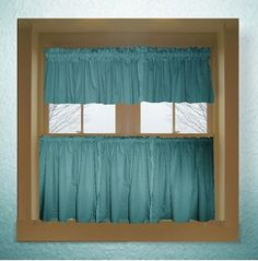 VALLEY Valance Curtains Brown Tan Blue Teal Flowers Leaves 53 Inches Wide On Etsy 2800