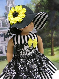 Paris Stroll Dress for American Girl doll by cupcakecutiepie,