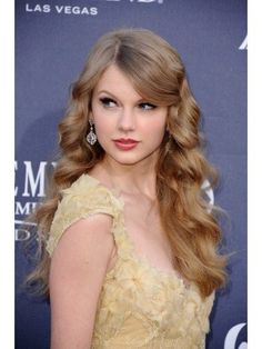 Taylor Swift Long Lace Front Blonde Wavy Remy Human Hair Wig