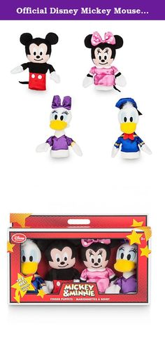 Official Disney Mickey Mouse & Friends 4 Finger Puppets Set. Little ones can create their own tales of adventure with our Mickey Mouse and friends finger puppets! Featuring Mickey, Minnie, Donald and Daisy all with fantastic character likeness and satin detailing .
