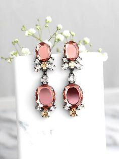 Blush Earrings, Brid