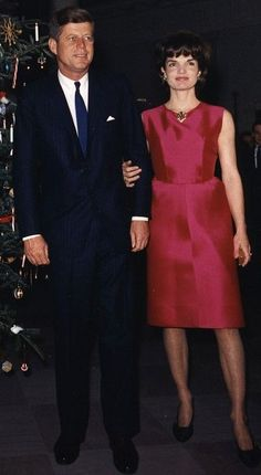 White House staff Christmas Party, Dec. 1962. Jackie tried to intervene when she heard the news of the living conditions her cousin and aunt were living in. When she arrived, they talked to her as if they were all back in the 40's and 50's. Eventually, they did allow some renovations to the property at Jackie's expense. Jackie never returned to Grey Gardens.: