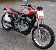 Mert Lawwill street tracker. Great except the gray box on the back of the bike.