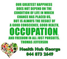 Our greatest happiness does not depend on the condition of life in which chance has placed us, but is always the result of a good conscience, good health, occupation, and freedom in all just pursuits. Thomas Jefferson, Freedom, Conditioner, Happiness, Mindfulness, Inspirational Quotes, Motivation, Health, Happy