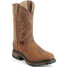 TW1007 Tony Lama Men's TLX Western Work Boots - Tan