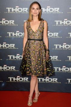 Natalie Portman Top ShoeMoments: She's trying on those Charlotte Olympia heels once more.