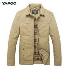 TAPOO Brand Casual Men Jackets Solid Male Zipper Stand Jackets Leisure Fitness Jackets Simple Spring Autumn M-3XL 3Colors