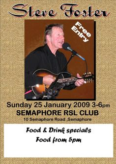 Sunday afternoon at the Semaphore RSL