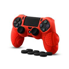 Silicone protective anti slip skin for Sony SLIM/ PRO Controllers. Keep all buttons, triggers and thumb bars accessible. Made of high quality odorless silicone. Ps4 Controller, Playstation, Cell Phone Accessories, Sony, Buttons, Cover, Blankets, Knots, Plugs