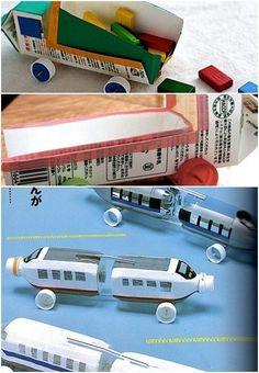 milk carton trucks by beverley ~