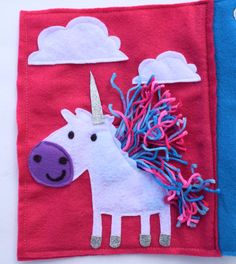Unicorn Quiet Book page by SewASied on Etsy