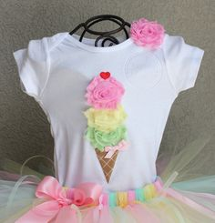 Ice Cream shirt Birthday Shirt Birthday bodysuit by HAPPYBUBKIN