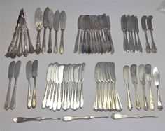 Vintage Individual and Master Silverplate Butter Knives & Picks - 61 Pc. Lot #MixedUSAMakers