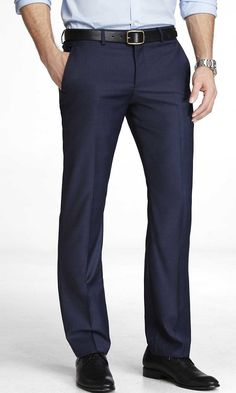 Photographer suit pant, micro twill - Navy | Express.