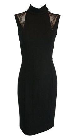 1993 Gianni Versace Black Lace Sheath Wiggle Dress 40