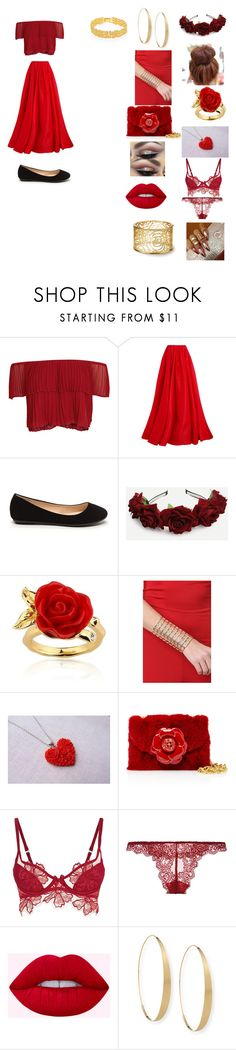 """""""Latina Pride (Nationality day"""" by michaelagoldinger on Polyvore featuring Keepsake the Label, Reem Acra, Disney, Agent Provocateur, Only Hearts, Lana and Lele Sadoughi"""