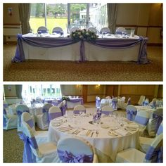 Lilac and white colour schemed wedding at Craxton Wood