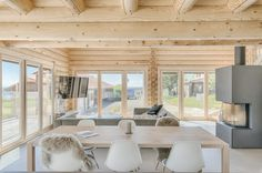 Are you a friend of rustic, country house look? This style is especially well suited for log homes, where wooden walls create a naturally warm and relaxed atmosphere.