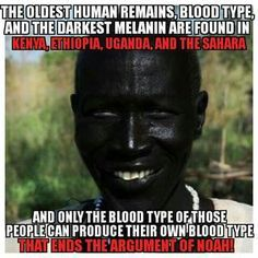 Actually Noah was an albino the off spring of genetically melanated people .This is recorded in the book of Enoch.