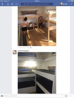Bunk beds Caravan Ideas, Bunk Beds, Cabinet, Storage, Furniture, Home Decor, Clothes Stand, Purse Storage, Decoration Home