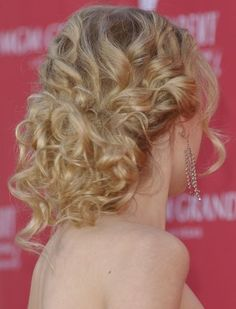 eva longoria view of back updos | Back View of Taylor Swift Formal Hairstyle