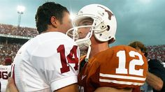 Sam Bradford and Colt McCoy :) I miss watching these two play college football.