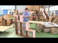 Escritorio de cartón apariencia de Madera DIY Tocador | Muebles de cartón DecoAndCrafts - YouTube
