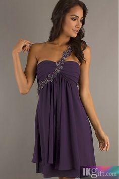 @abigailmighell  dark purple with diomon strap. Knee length