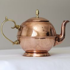 Antique Georgian Copper Teapot