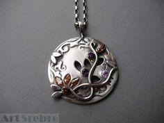 Silver pendant -,, the wind''