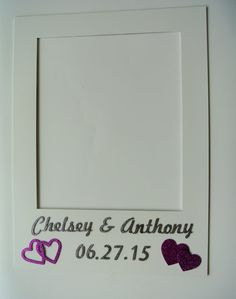 Polaroid Inspired Frame   photo booth props  Sign Wedding signs Frames Personalized