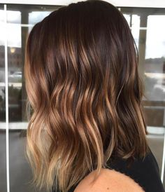Lob With Caramel Blonde Balayage