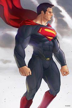 "mylkichoco: ""Man of Steel Support me on Patreon if you like my works 😉😉😉 "" Superman Pictures, Superman Artwork, Superman Wallpaper, Batman Vs Superman, Marvel Comics, Dc Comics Art, Marvel Dc, Superman Man Of Steel, Superman Wonder Woman"