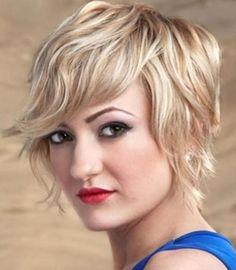 textured short hairstyle