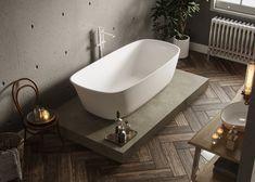 Small Bathtub, Clawfoot Bathtub, Interior Decorating, Interior Design, Minimalist Bathroom, Bathroom Inspiration, Tubs, Powder Room, Bungalow