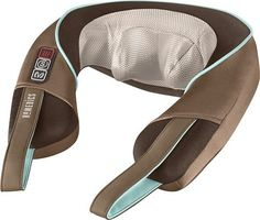 HoMedics - Shiatsu Neck and Shoulder Massager with Heat - Brown, NMS-375