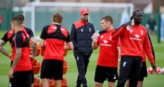 THE SUN OUT THE SUN ON SUNDAY OUT Jurgen Klopp manager of Liverpool during a training session at Melwood Training Ground on October 14 2015 in...