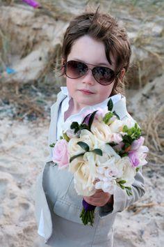 Page boy & professional bouquet carrier!