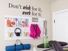For the Home Gym: Display Your Gear